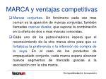 marca y ventajas competitivas34