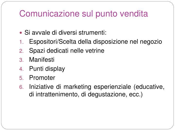 Comunicazione sul punto vendita