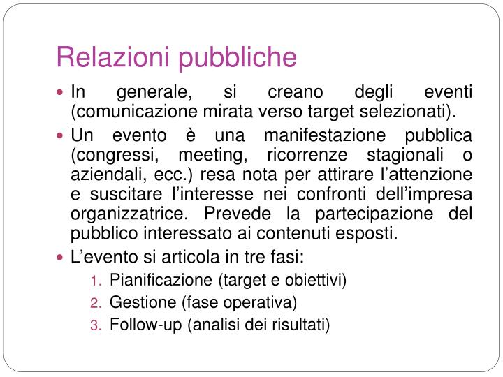 Relazioni pubbliche