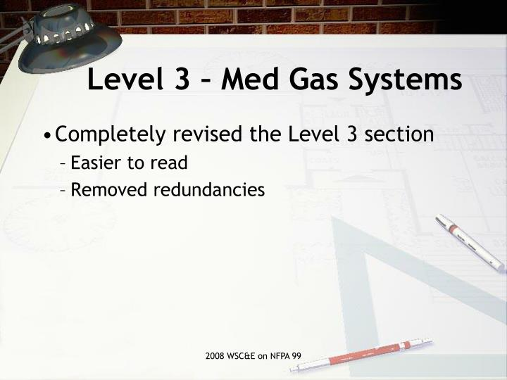 Level 3 – Med Gas Systems