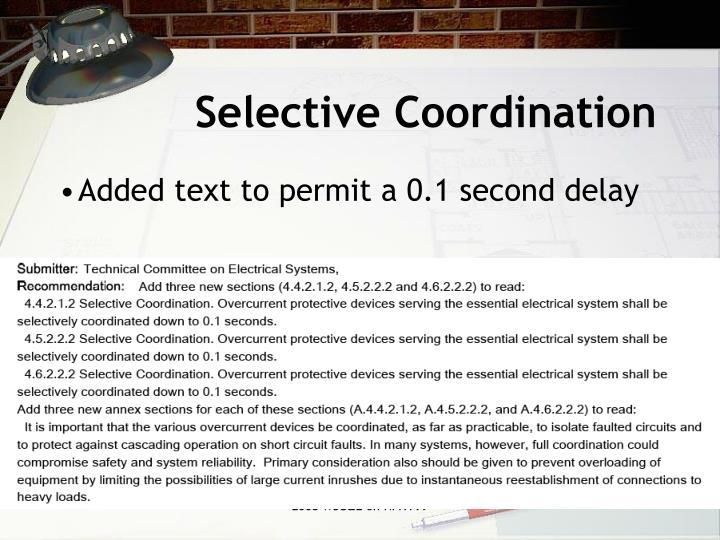 Selective Coordination