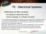 tc electrical systems