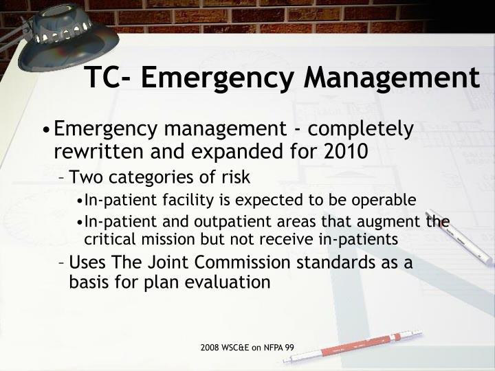 TC- Emergency Management