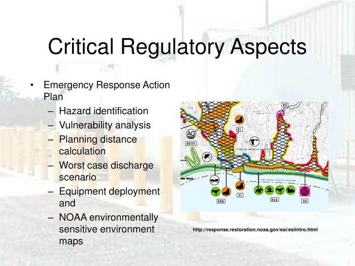 Critical Regulatory Aspects