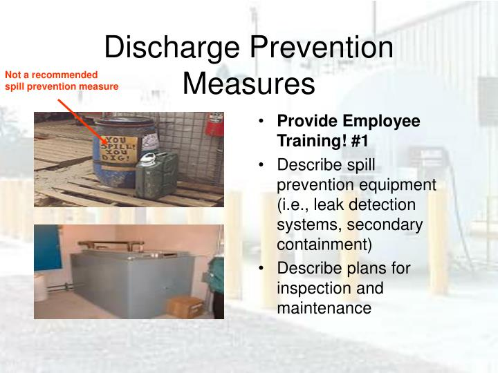 Discharge Prevention Measures