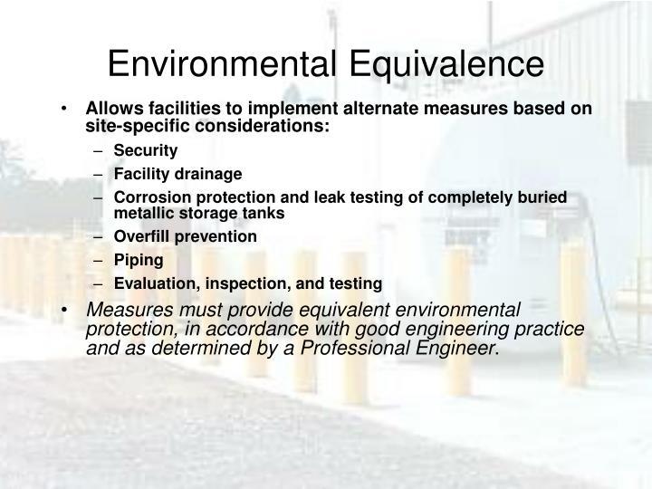 Environmental Equivalence