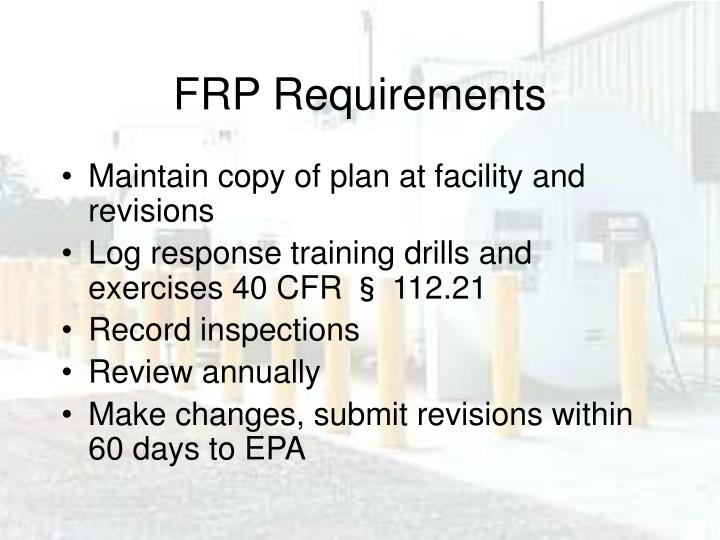 FRP Requirements