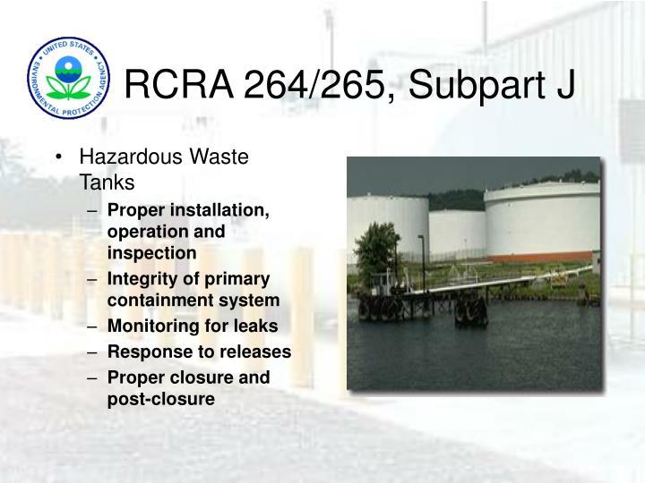 RCRA 264/265, Subpart J