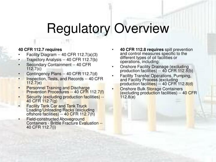 40 CFR 112.7 requires