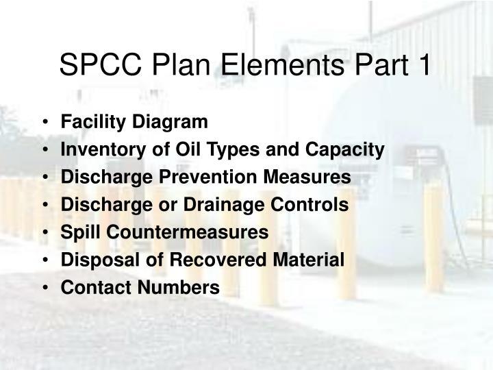 SPCC Plan Elements Part 1