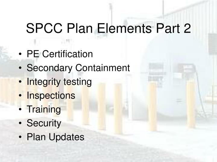 SPCC Plan Elements Part 2