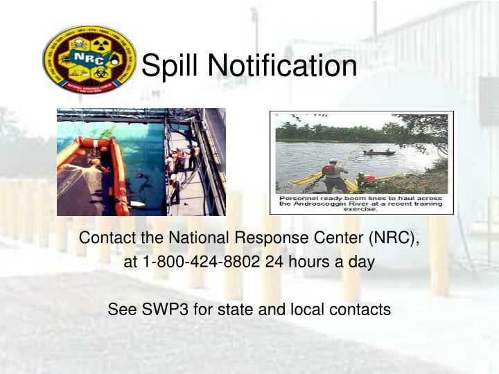 Spill Notification