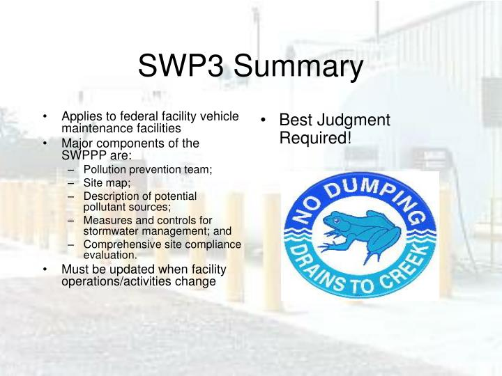 Applies to federal facility vehicle maintenance facilities