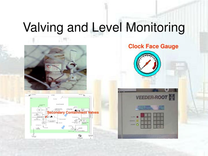 Valving and Level Monitoring
