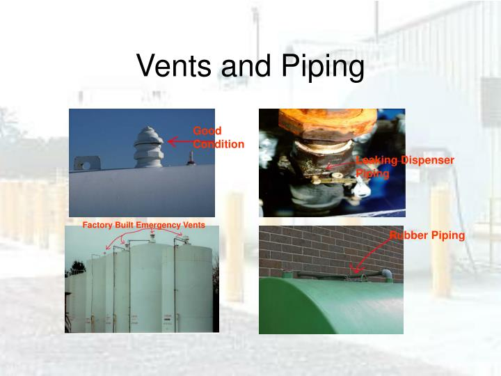 Vents and Piping