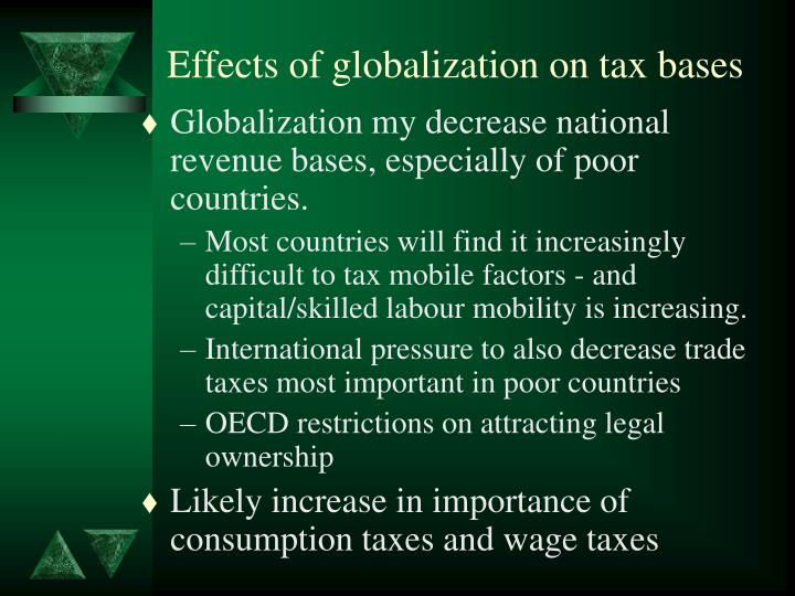 Effects of globalization on tax bases