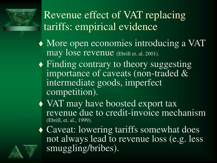 Revenue effect of VAT replacing tariffs: empirical evidence