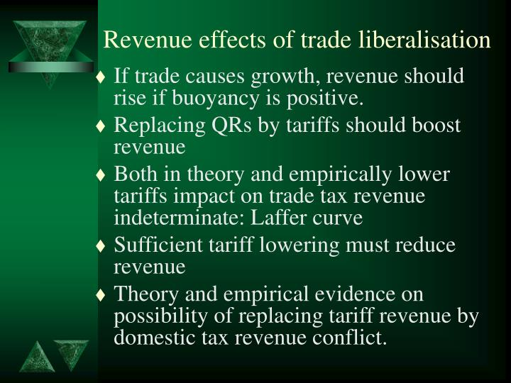 Revenue effects of trade liberalisation