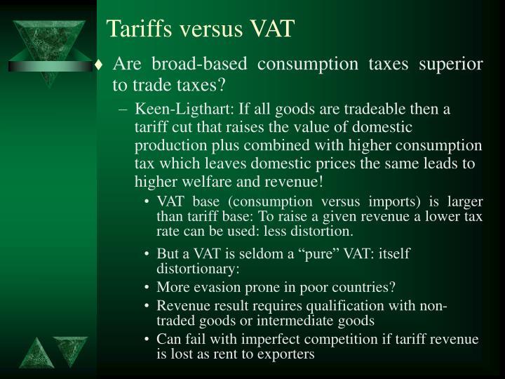 Tariffs versus VAT