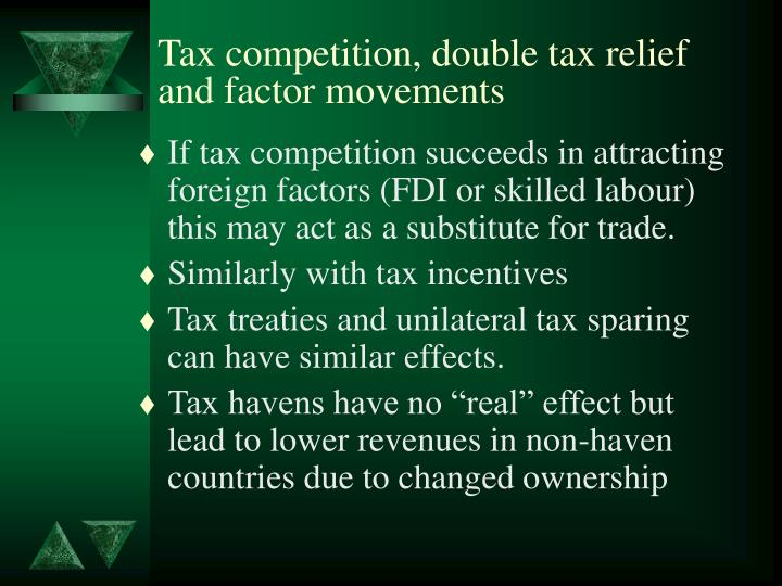 Tax competition, double tax relief and factor movements