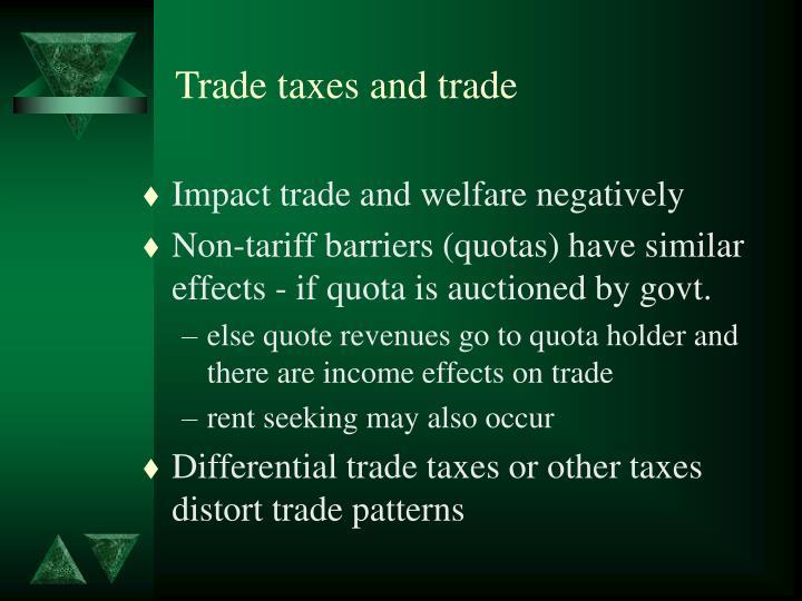 Trade taxes and trade