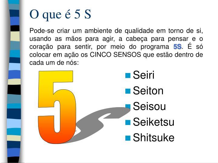 O que é 5 S