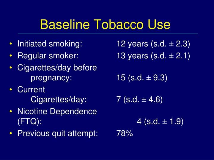 Baseline Tobacco Use