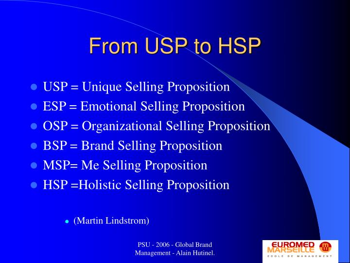 From USP to HSP