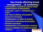 key trends affecting brand management marketing