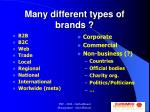 many different types of brands