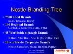nestle branding tree