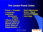 the landor power index