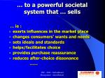 to a powerful societal system that sells