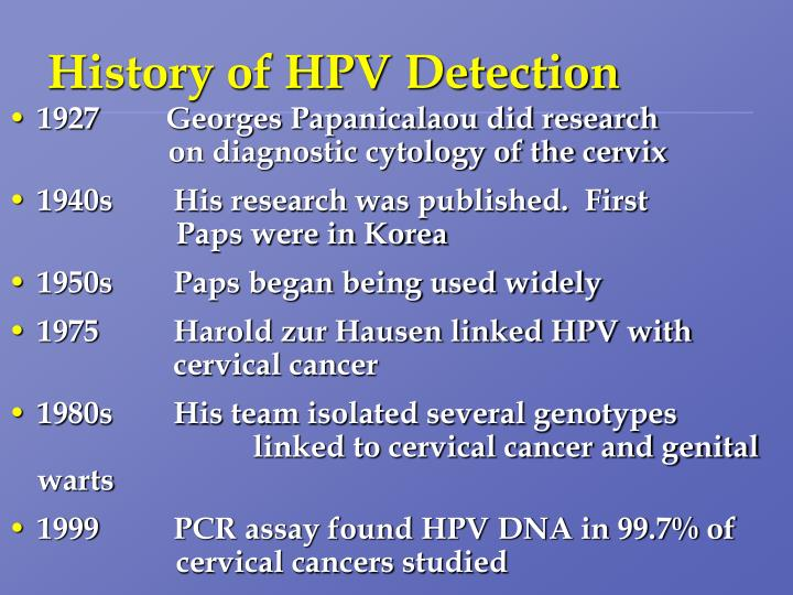 History of HPV Detection