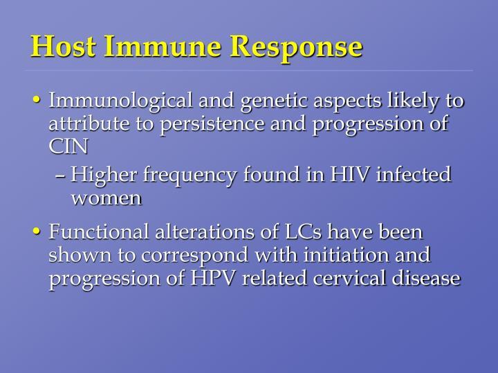 Host Immune Response