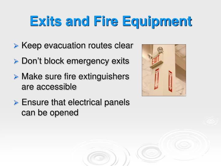 Exits and Fire Equipment
