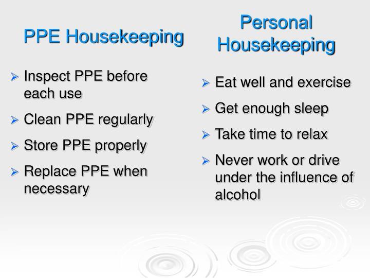 Personal Housekeeping