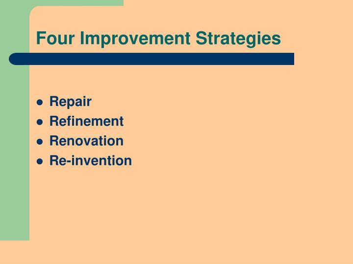 Four Improvement Strategies