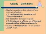 quality definitions