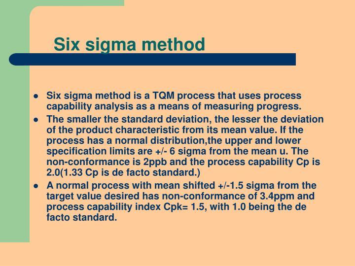 Six sigma method