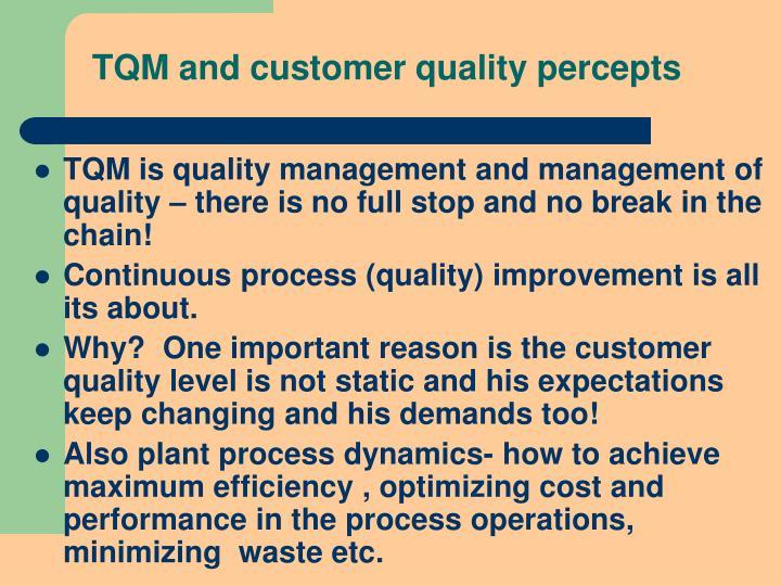 TQM and customer quality percepts