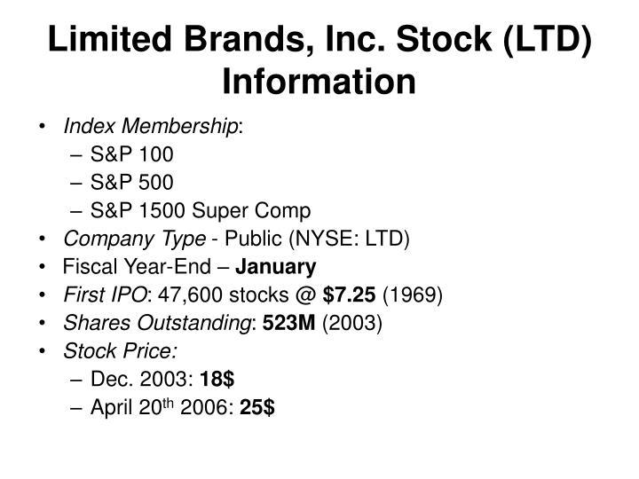 Limited Brands, Inc. Stock (LTD) Information
