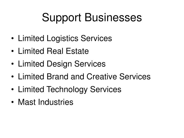 Support Businesses