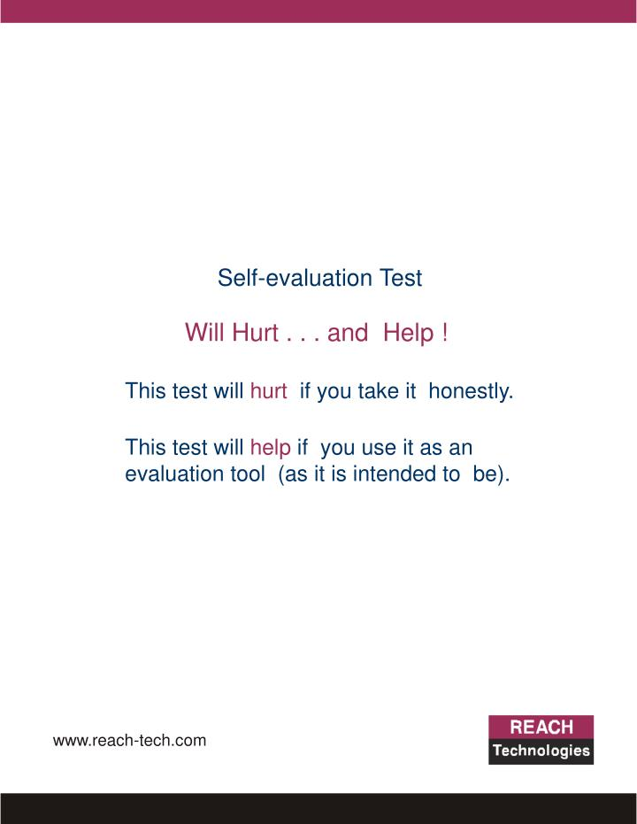Self-evaluation Test