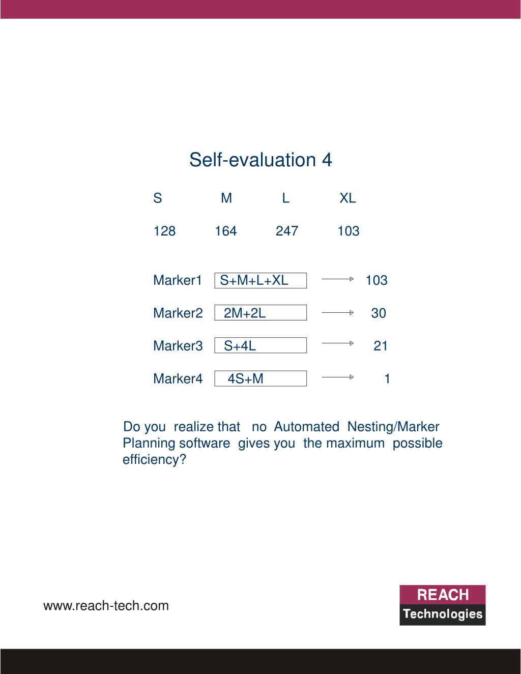 Self-evaluation 4