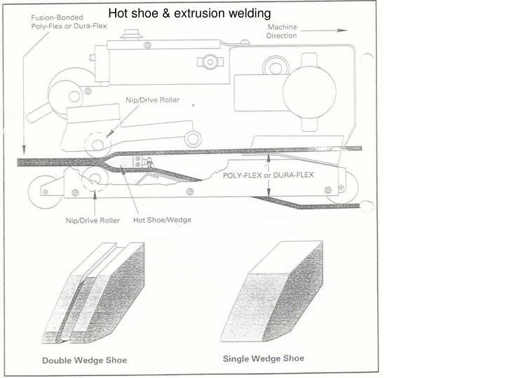 Hot shoe & extrusion welding