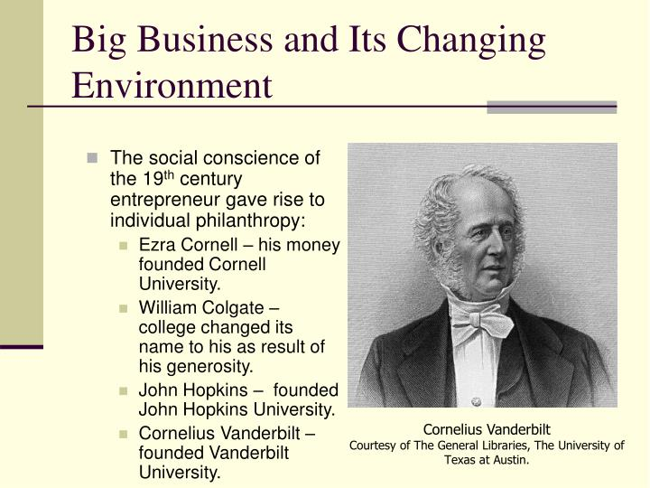 Big Business and Its Changing Environment