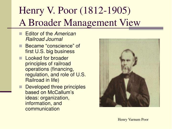 Henry V. Poor (1812-1905)