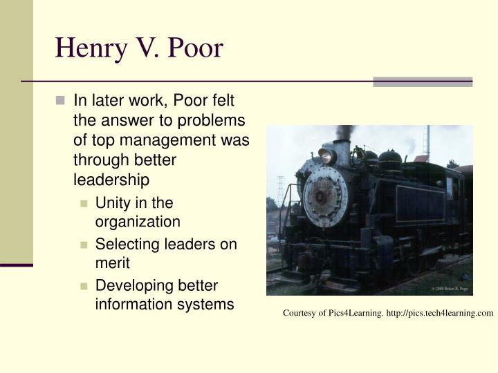 Henry V. Poor