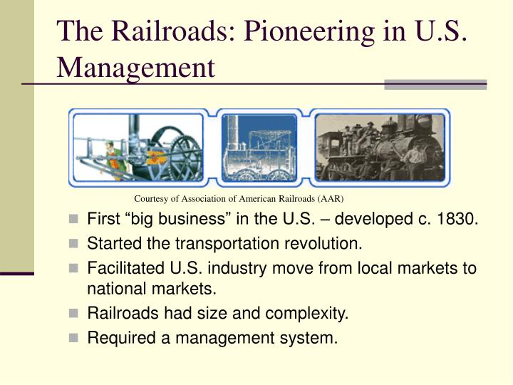 The Railroads: Pioneering in U.S. Management
